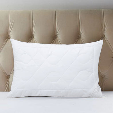 "A1HC Hypoallergenic - Mite Resistant Quilted Snowflake-Patterned Microfiber Jumbo-Size Pillows (Set Of 2) (28"" X 20"" X 4"")"