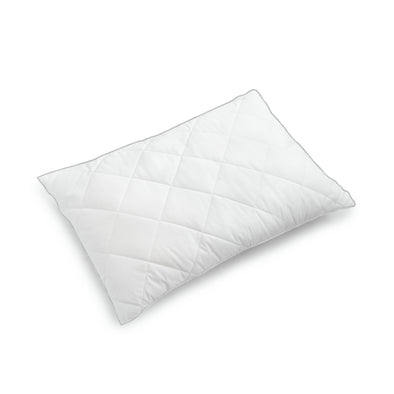 "Quilted Down Alternative Organic Cotton Pillow - White, 20"" X 30"""