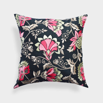 "A1HC Organzza Handembroidered Classic Floral Boutique 20""X20"" Decorative Throw Pillow"