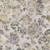 Gold Floral Designer Organic Cotton Drapery Panel