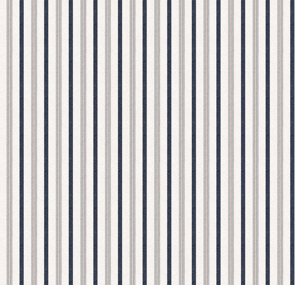 Bryson Stripe Designer Organic Cotton Drapaery ; Brown