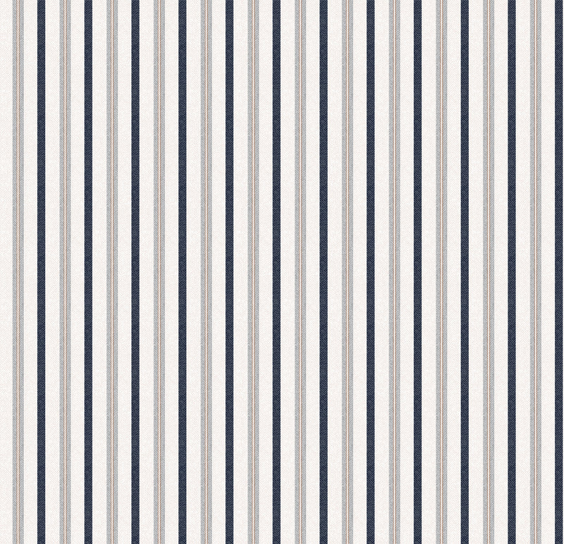 Bryson Stripe Designer Organic Cotton Drapaery ; Brown - A1HCSHOP