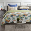 Palm Oasis Reversible Print 100% Organic Cotton Wrinkle Resistant Duvet Set and Insert