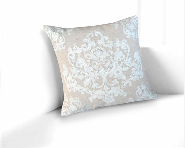 Gale Baroque Linen Throw Pillow