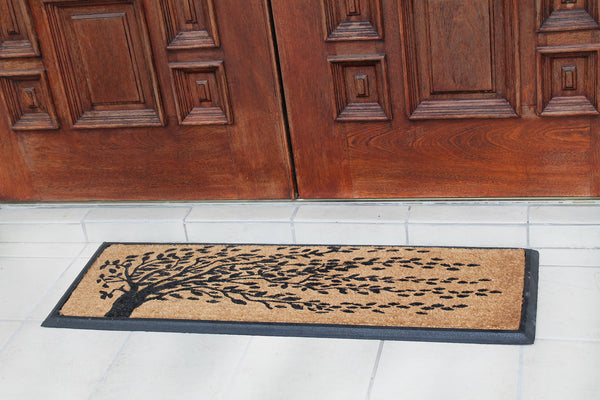 'Falling Leaves' Rubber Coir Doormat