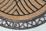 Elegant Half-round Rubber and Coir Doormat - A1HCSHOP