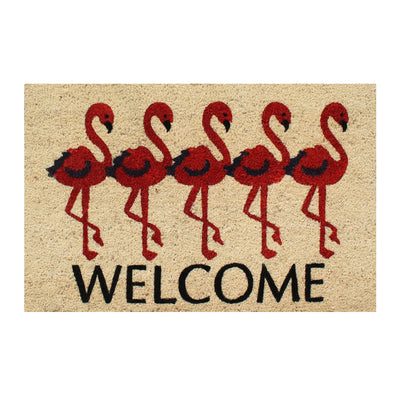 "First ImpressionFlamingo Welcome Mat, 18"" X 30"""
