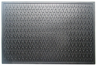 A1HC Natural Rubber Geometric 24 In. X 36 In. Residential/Commercial Tapered Edge Scraper Doormat