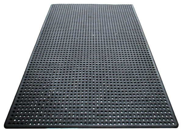 Heavy Duty Checkered Multi-utility Commercial/Residential Mat with Drainage Holes - A1HCSHOP