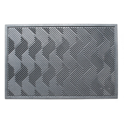 A1HC Natural Rubber Checkered 24 In. X 36 In. Residential/Commercial Tapered Edge Scraper Doormat