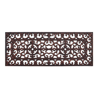 Rubber Iron Copper Finished Elegant Large Double Door Mat