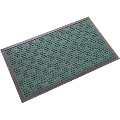 "Green Molded Polypropylene Doormat, 18"" X 30"""