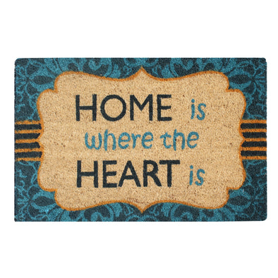 "A1HC First Impression Giovanni Multicolored Tufted Coir and PVC Engineered Anti Shred Treated Doormat, 18"" x 30"""