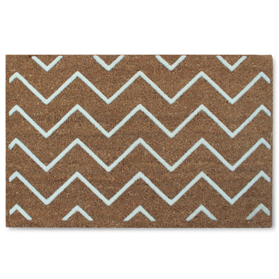 "First Impression Rosway Chevron Flocked Mat, 18"" X 30"""