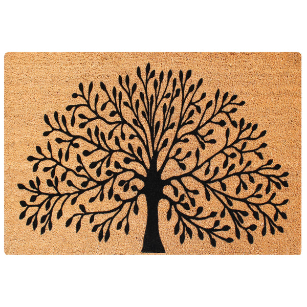 A1HC First Impression Shredding Tree FADE RESISTANT 24 in. x 39 in. Coir Flocked Door Mat - A1HCSHOP