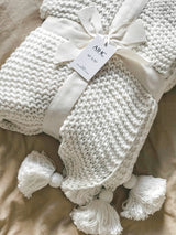100% Organic Cotton Chunky Knit Throw