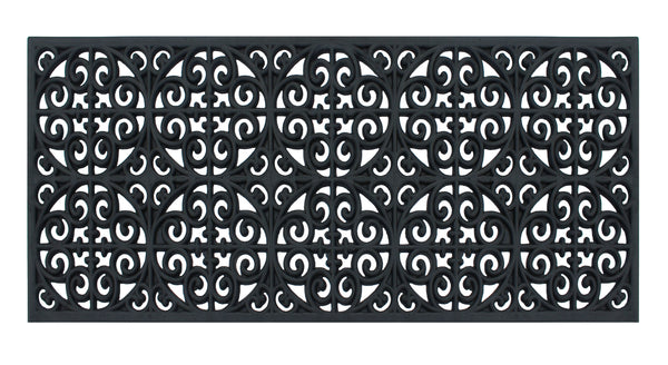 Grill Rubber Entry Double Doormat