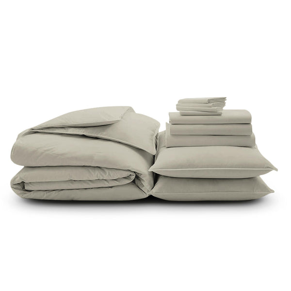 100% Organic Cotton Wrinkle Resistant Home Bundle-Cream
