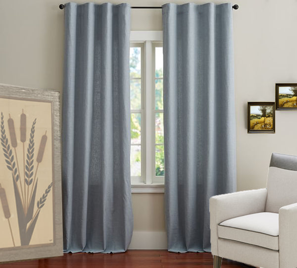100% Sheer Linen Drape Steel Grey