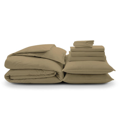100% Organic Cotton Wrinkle Resistant Home Bundle-Sand