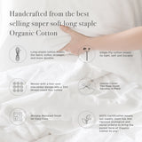 100% Organic Cotton Wrinkle Resistant Home Bundle-Cream - A1HCSHOP