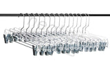 Best Skirt and Slack Hangers, Made in the USA Classic Clear High Impact and Long Lasting Crystal Hangers, Set of 15