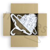 Neaties USA Made Children's Small White Plastic Hangers with Clips, 18pk