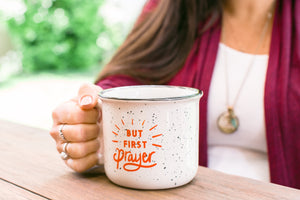 """But First Prayer"" Camper Mug"
