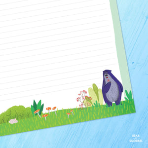 Bear & Squirrel Stationery Little Writer's Stationery Set