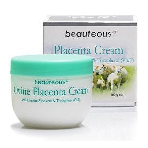 New Zealand Natural Beauteous Placenta Cream with Lanolin, Aloe Vera and Vitamin E, 100g