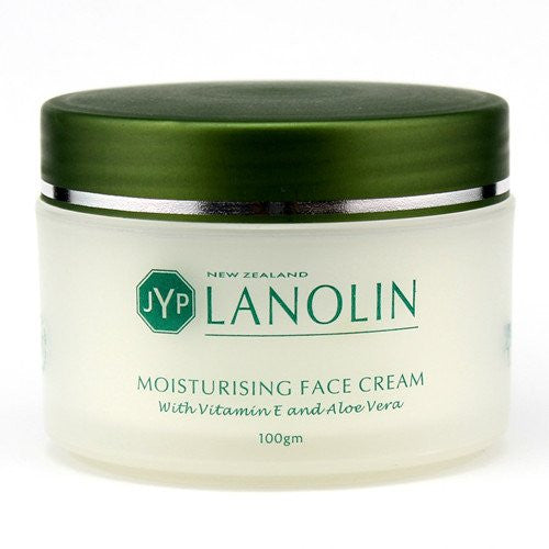 JYP New Zealand Lanolin Moisturizing Face Cream with Vitamin E and Aloe Vera, 100g