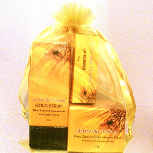 Gift Set - Bee Venom Face Cream, Bee Venom Gold Serum and Bee Venom Lip Plumper