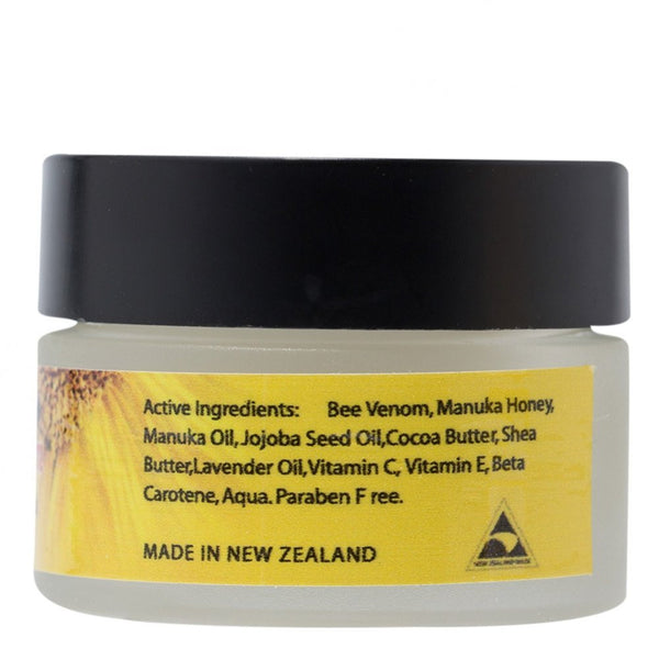 Active Bee Venom Face Cream Mask with Manuka Honey, Jojoba Oil, Shea Butter, Vitamins C and E, 15g