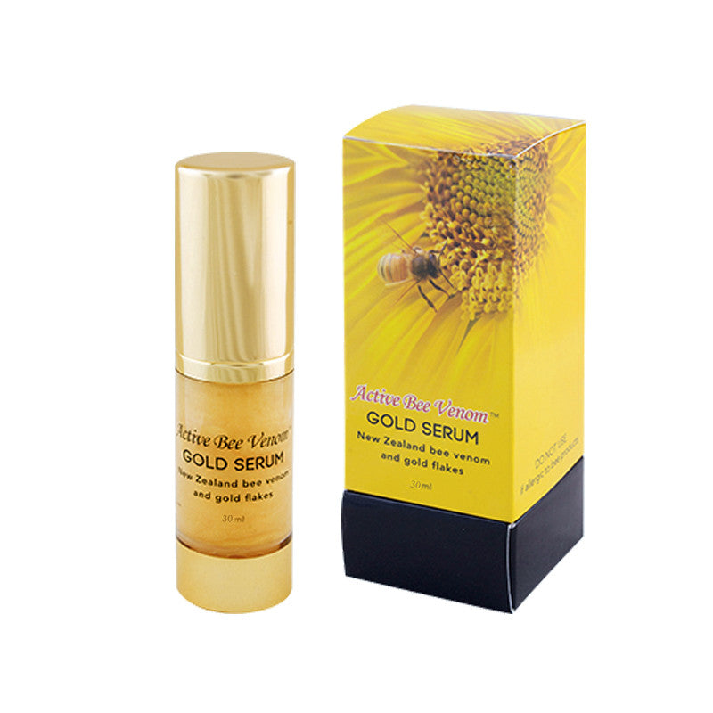Active Bee Venom Gold Serum with 24K Gold Flakes, Bee Venom, Aloe Vera, Lavander Oil - 30ml