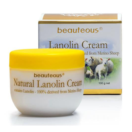 New Zealand Natural Beauteous Lanolin Cream with Lanolin from Merino Sheep and Colostrum, 100g