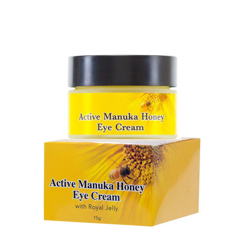 Manuka Honey Eye Cream with Royal Jelly, Jojoba Oil, Cocoa Butter, Aloe Vera & Vitamin E, 15g