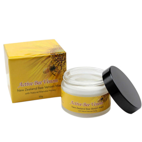 Active Bee Venom Face Cream Mask with Manuka Honey, Jojoba Oil, Shea Butter, Vitamins C and E, 50g