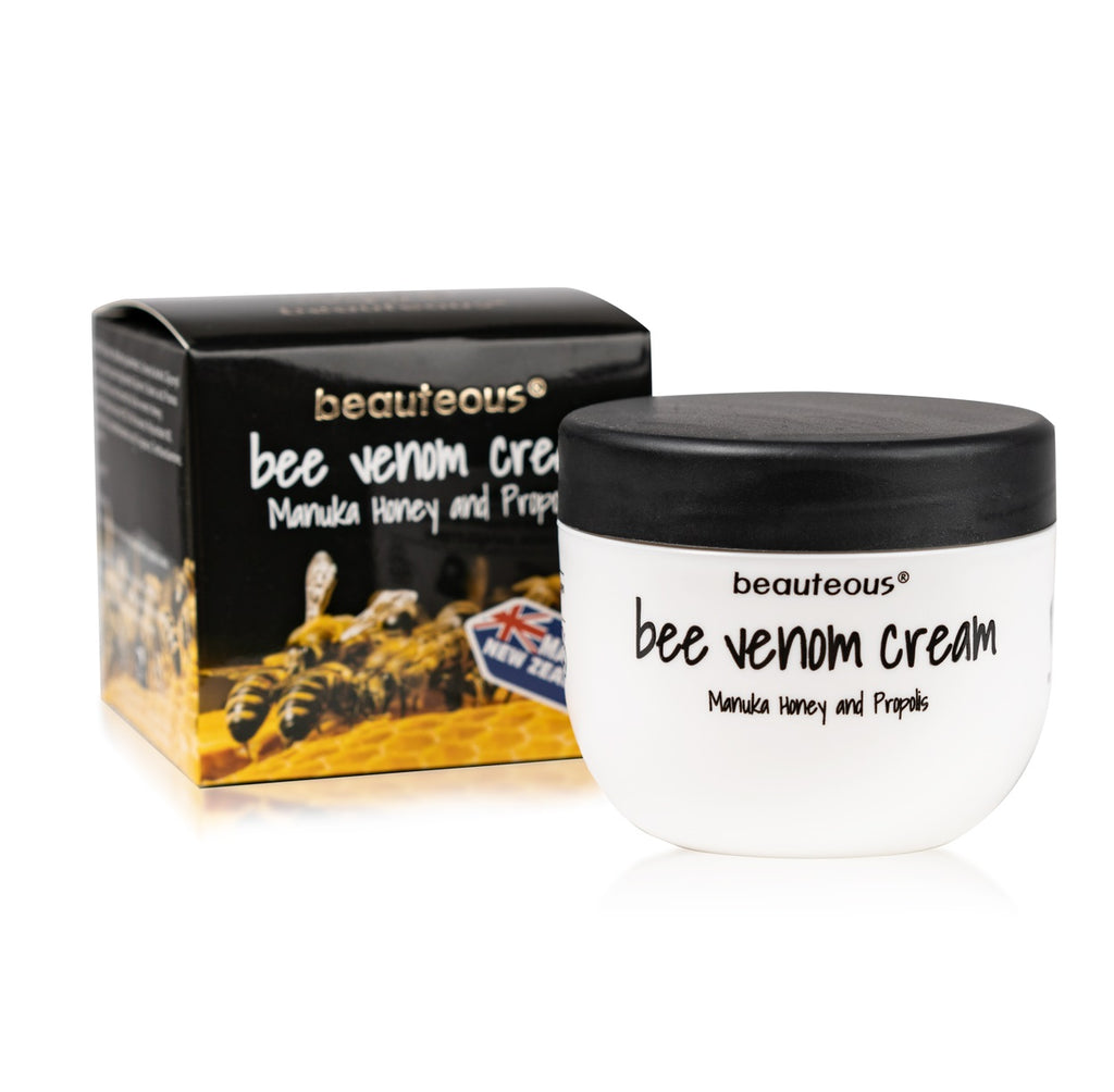 beauteous Bee Venom Cream with New Zealand Bee Venom, Manuka Honey and Propolis, 100g