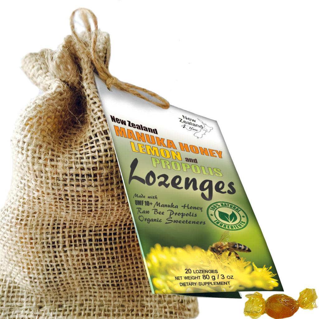 Manuka Honey Lemon and Propolis Lozenges - Soothe your throat and support immune system naturally