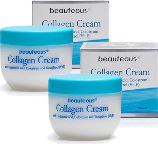 New Zealand Natural Beauteous Collagen Cream with Hyaluronic Acid, Colostrum and Vitamin E