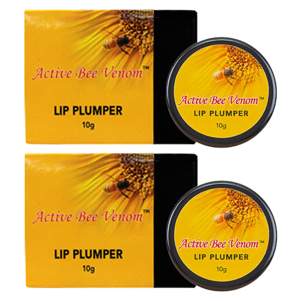 New Zealand Active Bee Venom Lip Plumper - Best Lip Plumper Balm 10g x 2 Pots