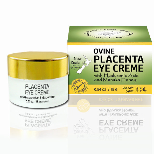 New Zealand 4 You Ovine Placenta Eye Cream with Hyaluronic Acid and Manuka Honey, 15g