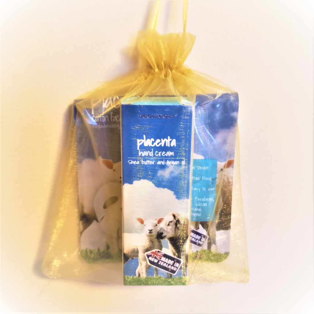 Gift Set - beauteous Placenta Hand Cream and Placenta Cotton Face Mask