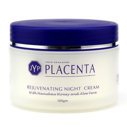 JYP New Zealand Placenta Rejuvenating Night Cream with Manuka Honey, Aloe Vera and Vitamin A, 100g