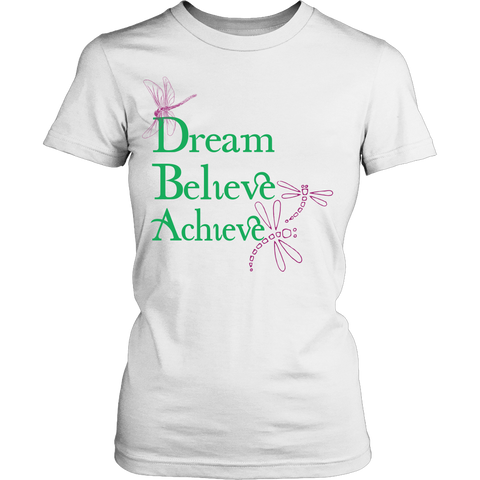 Dream Believe Achieve Dragonfly T-Shirt