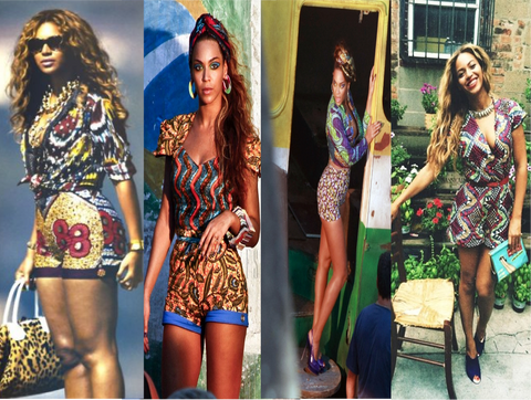 Beyonce in African Prints - Celebrity styles