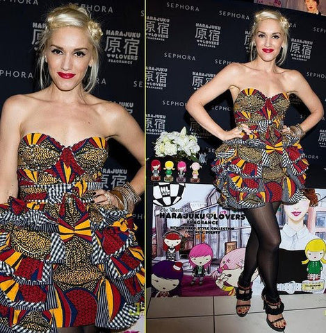 Gwen Stefani rocks African Print Mini Dress