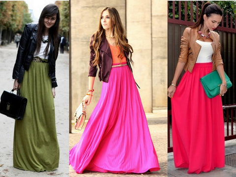maxi skirts with jackets
