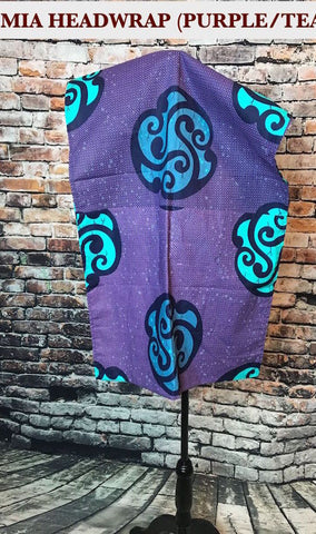 Mia African HeadWrap - Purple / Teal