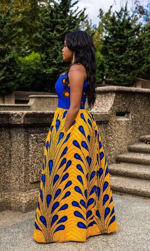 african maxi party dress